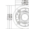 "Boxa incastrabila de tavan 6""+1.5"" ITC Audio T-206A 2335"